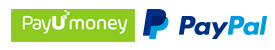 Secure Payments through PayUmoney and PayPal