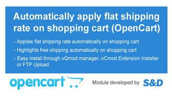 Auto Shipping Extension for OpenCart (vQmod/oCmod) Thumbnail