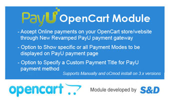 PayU OpenCart Module Thumbnail