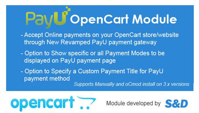 PayU OpenCart Module