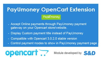 PayUmoney Opencart Extension Thumbnail