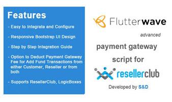 ResellerClub Flutterwave Payment Gateway PHP Script Thumbnail