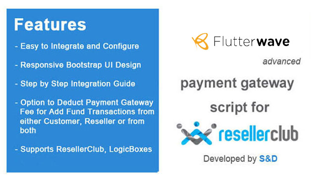 ResellerClub Flutterwave Payment Gateway PHP Script