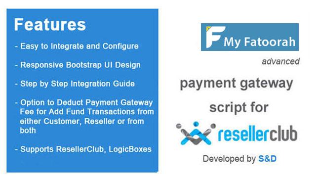 ResellerClub MyFatoorah Payment Gateway PHP Script
