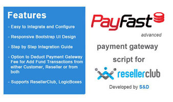 ResellerClub PayFast Payment Gateway PHP Script Thumbnail