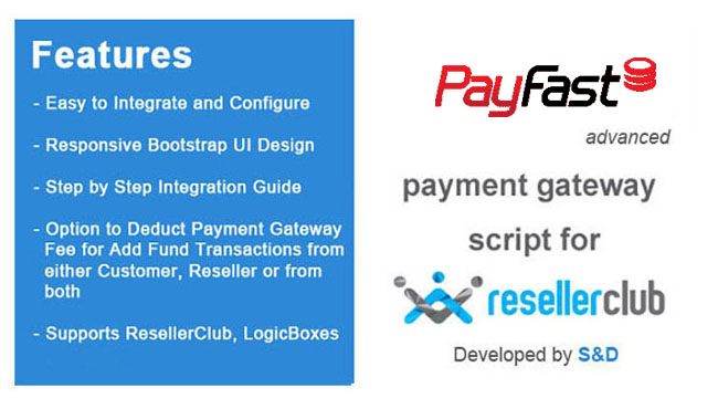 ResellerClub PayFast Payment Gateway PHP Script