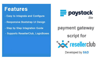 ResellerClub Paystack Payment Gateway PHP Script (LITE Version) Thumbnail