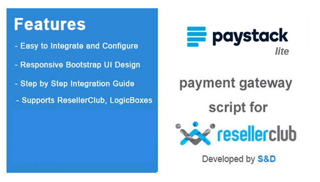 ResellerClub Paystack Payment Gateway PHP Script (LITE Version)