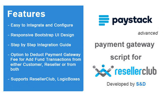 ResellerClub Paystack Payment Gateway PHP Script Thumbnail