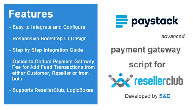 ResellerClub Paystack Payment Gateway PHP Script