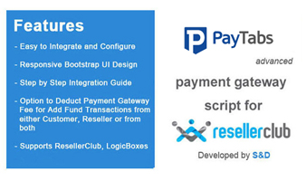 ResellerClub PayTabs Payment Gateway PHP Script Thumbnail