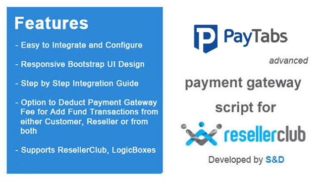 ResellerClub PayTabs Payment Gateway PHP Script