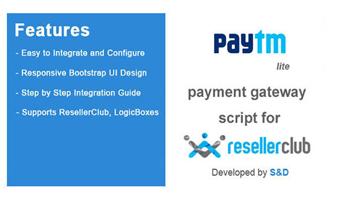 ResellerClub Paytm Payment Gateway PHP Script (LITE Version) Thumbnail