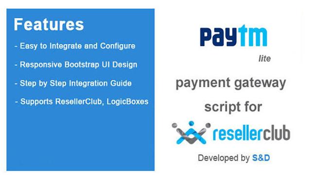 ResellerClub Paytm Payment Gateway PHP Script (LITE Version)