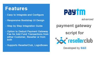 ResellerClub Paytm Payment Gateway PHP Script Thumbnail