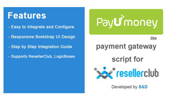 ResellerClub PayUmoney Payment Gateway PHP Script (LITE Version) Thumbnail