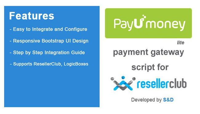 ResellerClub PayUmoney Payment Gateway PHP Script (LITE Version)