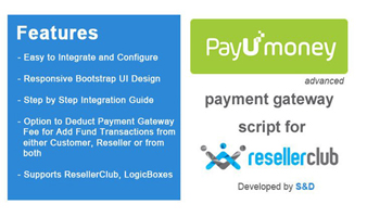 ResellerClub PayUmoney Payment Gateway PHP Script Thumbnail