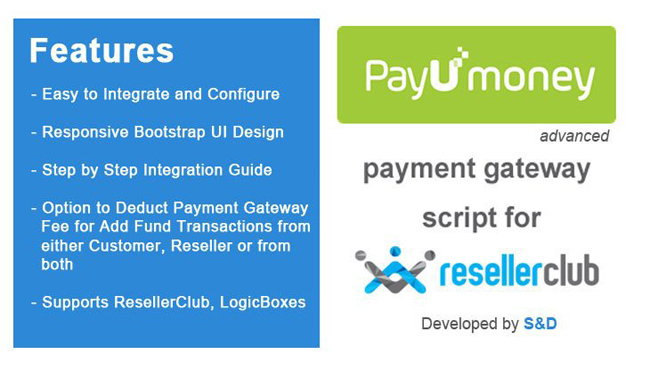 ResellerClub PayUmoney Payment Gateway PHP Script