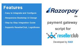 ResellerClub Razorpay Payment Gateway PHP Script (LITE Version) Thumbnail