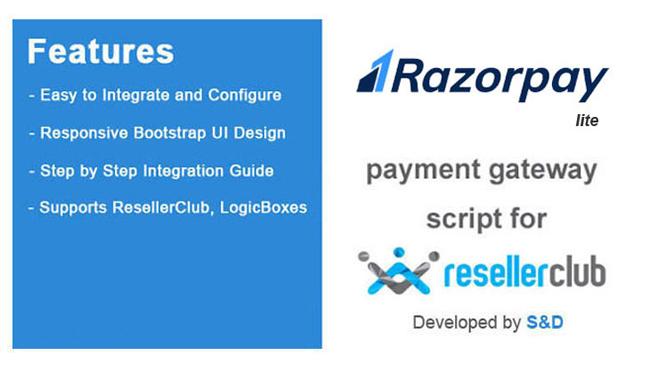 ResellerClub Razorpay Payment Gateway PHP Script (LITE Version)