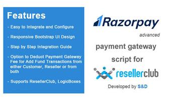 ResellerClub Razorpay Payment Gateway PHP Script Thumbnail
