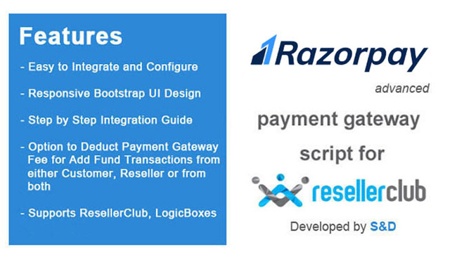 ResellerClub Razorpay Payment Gateway PHP Script