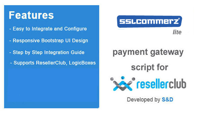 ResellerClub SSLCommerz Payment Gateway PHP Script (LITE Version)