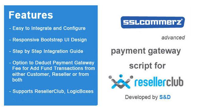 ResellerClub SSLCommerz Payment Gateway PHP Script