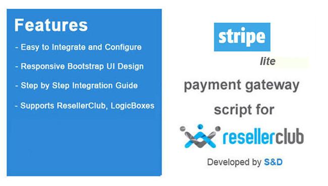 ResellerClub Stripe Payment Gateway PHP Script (LITE Version)