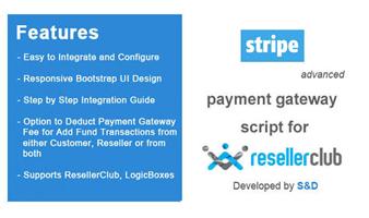 ResellerClub Stripe Payment Gateway PHP Script Thumbnail