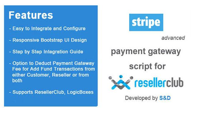 ResellerClub Stripe Payment Gateway PHP Script